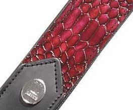 Levys BURGANDY Snake Leather Guitar Strap_cu