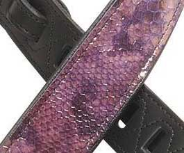 Levys Purple Snake Leather Guitar Strap_cu