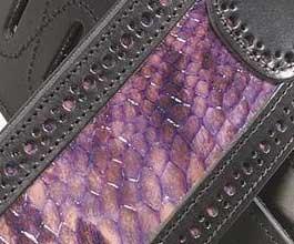 Levys Purple Snakeskin Guitar Strap_cu