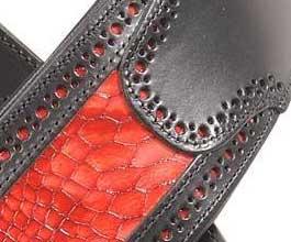 Levys Red Snakeskin Guitar Strap_cu