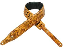 Levys TAN Immitation Snakeskin Guitar Strap