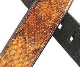 Levys TAN Snake Leather Guitar Strap_cu