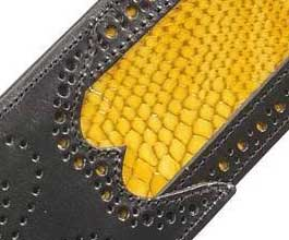 Levys YELLOW Snakeskin Guitar Strap_cu