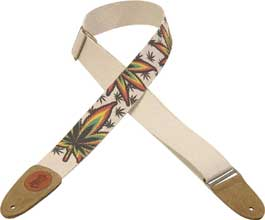 Hemp Guitar Strap (leaf)