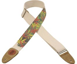 Hemp Guitar Strap (leafy)