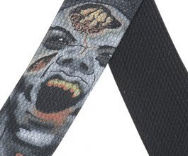 Levys Zombie Death Guitar Strap close up