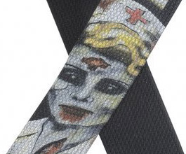 Levys Zombie Nurse Guitar Strap close up