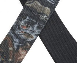 Levys Zombie Sheriff Guitar Strap close up