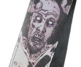 Walking Dead Cliff Zombie Guitar Strap close up