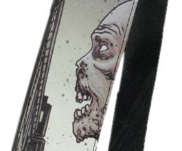 Walking Dead Looking Zombie Guitar Strap close up