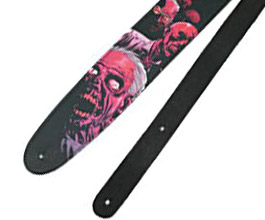 Peavey Walking Dead Cliff Zombie Electric Or Acoustic Leather Guitar Strap New