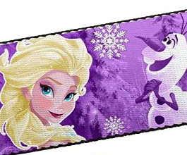 Frozen Guitar Strap 03, close up