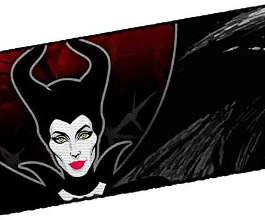 Guitar Strap 14, Maleficent's Dragon, close up