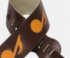 Music Notes Guitar Strap no.3 close up