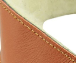 Sheepskin Guitar Strap 3 by Perris Leathers close up