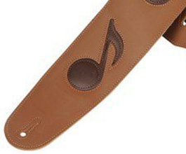 Music Notes Guitar Strap no.4 close up