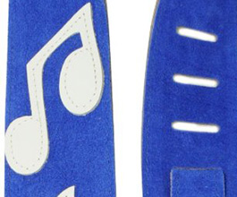 Music Notes Guitar Strap no.8 close up
