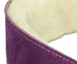 Sheepskin Guitar Strap 8 by Perris Leathers close up
