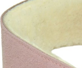 Sheepskin Guitar Strap 9 by Perris Leathers close up