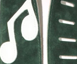 Music Notes Guitar Strap no.10 close up