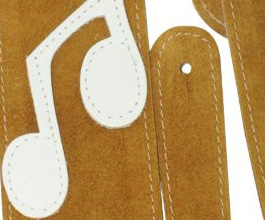 Music Notes Guitar Strap no.11 close up
