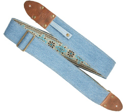 Denim Guitar Strap 4 by LM Products