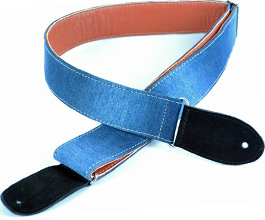 Denim Guitar Strap 6 by Pete Schmidt