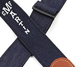 Denim Guitar Strap 7 by Martin close up