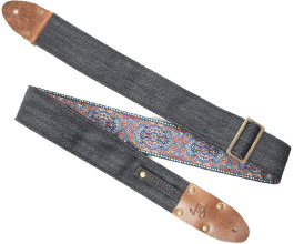 Denim Guitar Strap 8 by LM Products