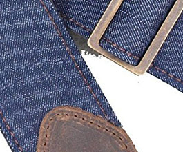 Denim Guitar Strap 9 by LM Products close up