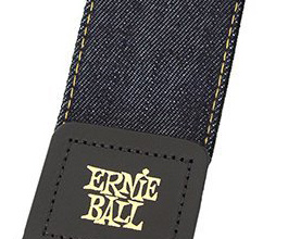 Denim Guitar Strap 10 by Ernie Ball close up
