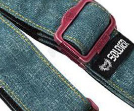 Denim Guitar Strap 12 by East Majik close up