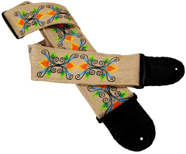 embroidered guitar strap 01