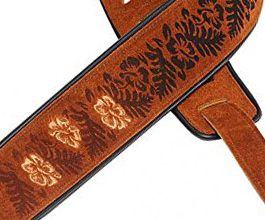 embroidered guitar strap 03 close up