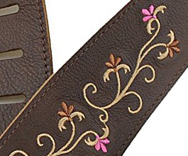 flower guitar strap 13 close up