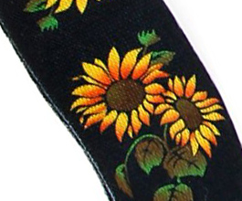 flower guitar strap 15 close up