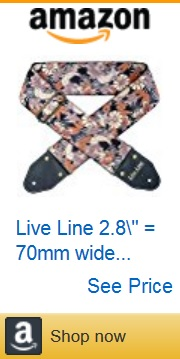 flower guitar strap 10 by Amazon