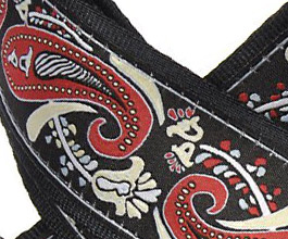 paisley guitar strap 07 close up